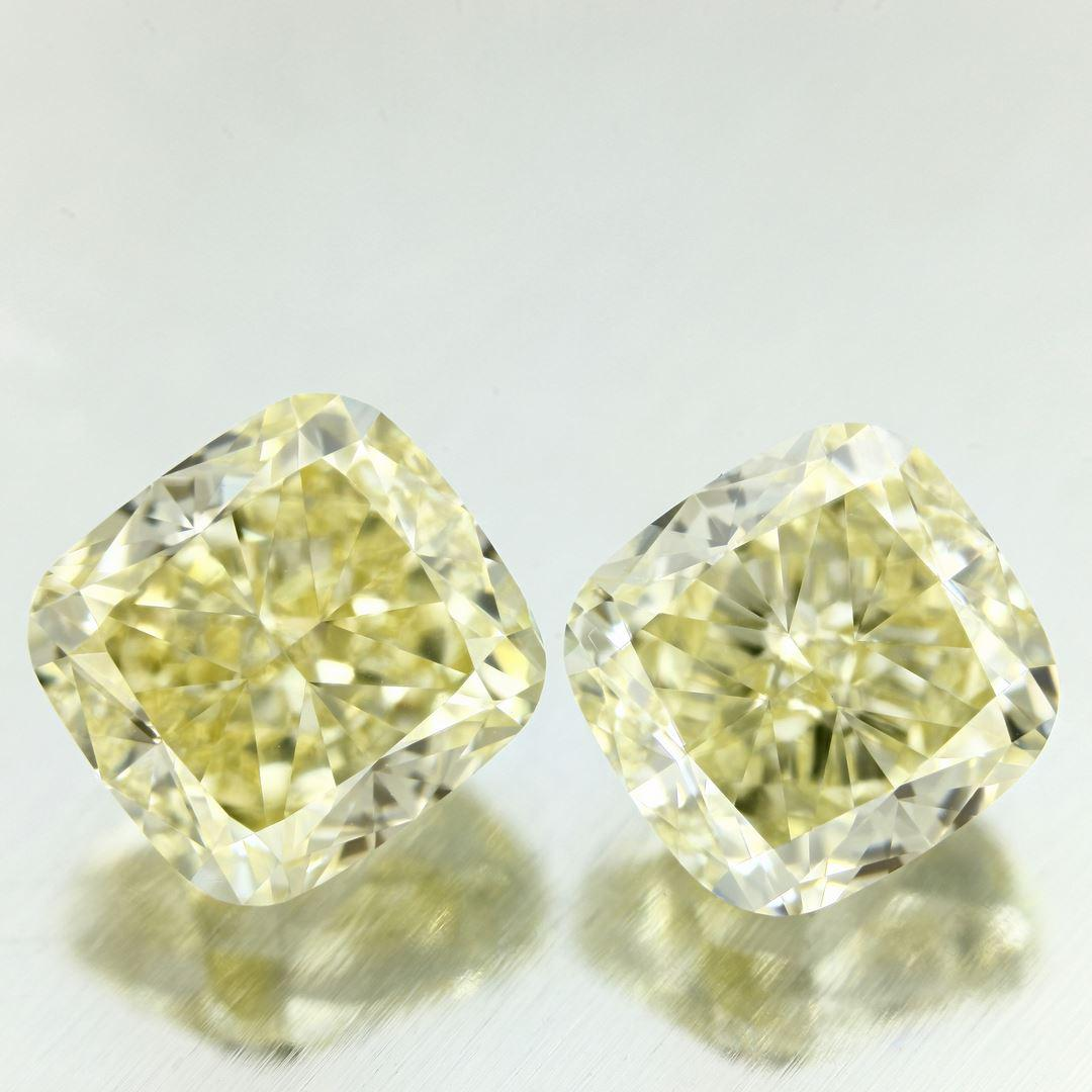 It is also not uncommon for the yellow diamonds to have a hue modifier. This means that the yellow colour has a a very small wash of different colour which is sometimes visible to the naked eye. This hue modifier will result in GIA colour grades such as Orangy Yellow or Greenish Yellow. -