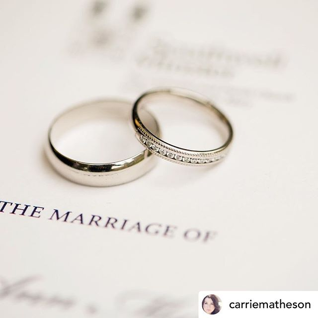 ❤️💕• @carriematheson We were looking through our wedding photos last evening and were feeling really grateful to all the wonderful people whose work was part of our big day.  The divine Emese Nemeth @hugoandhaan designed these beautiful wedding bands for us.  Emi is a true pro, who went above and beyond to create and deliver exactly what we wanted.  Thank you, dear Emi, for your amazing work! #weddingbands #jewelry #weddingrings #wedding #smallbusiness #marriage #destinationwedding #designer #weddingplanning #recommended #hugoandhaan