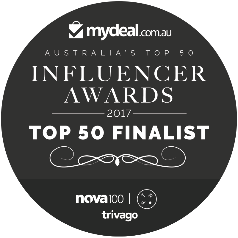 winner - australia's top 50 influencer awards