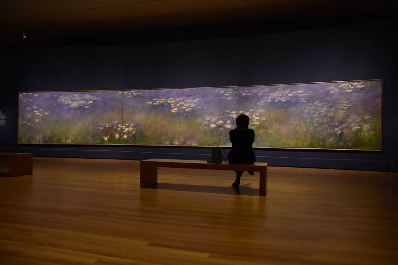 The Nelson-Atkins  and the  St. Louis Art Museum  have loaned their  Waterlilies  by Monet to the CMA so that the three images could be joined together again.