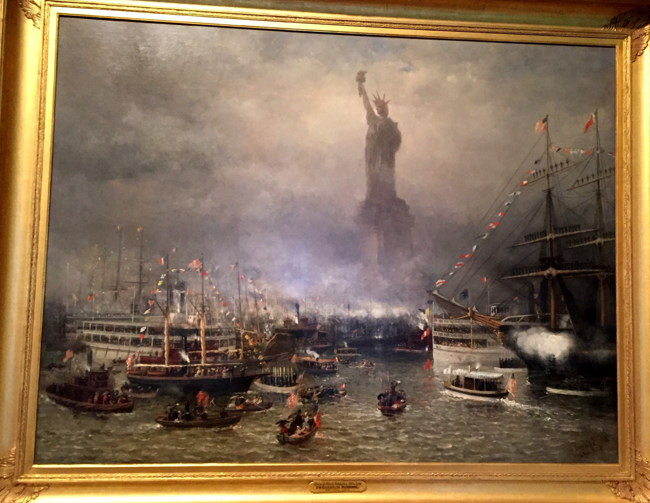 Statue of Liberty Celebration  by Frederick Rondel, American, 1826-1892.