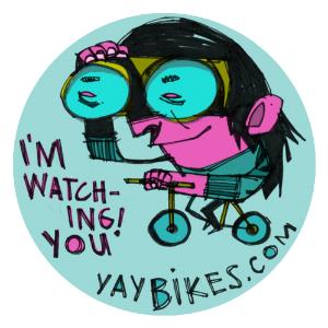 June's button, courtesy artist Thom Glick