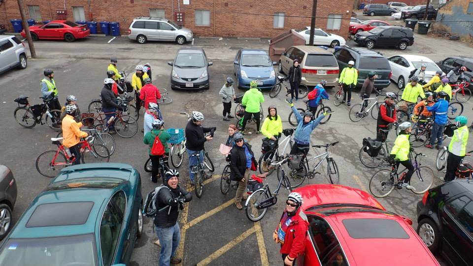 54 riders after shopping at Wild Goose Creative