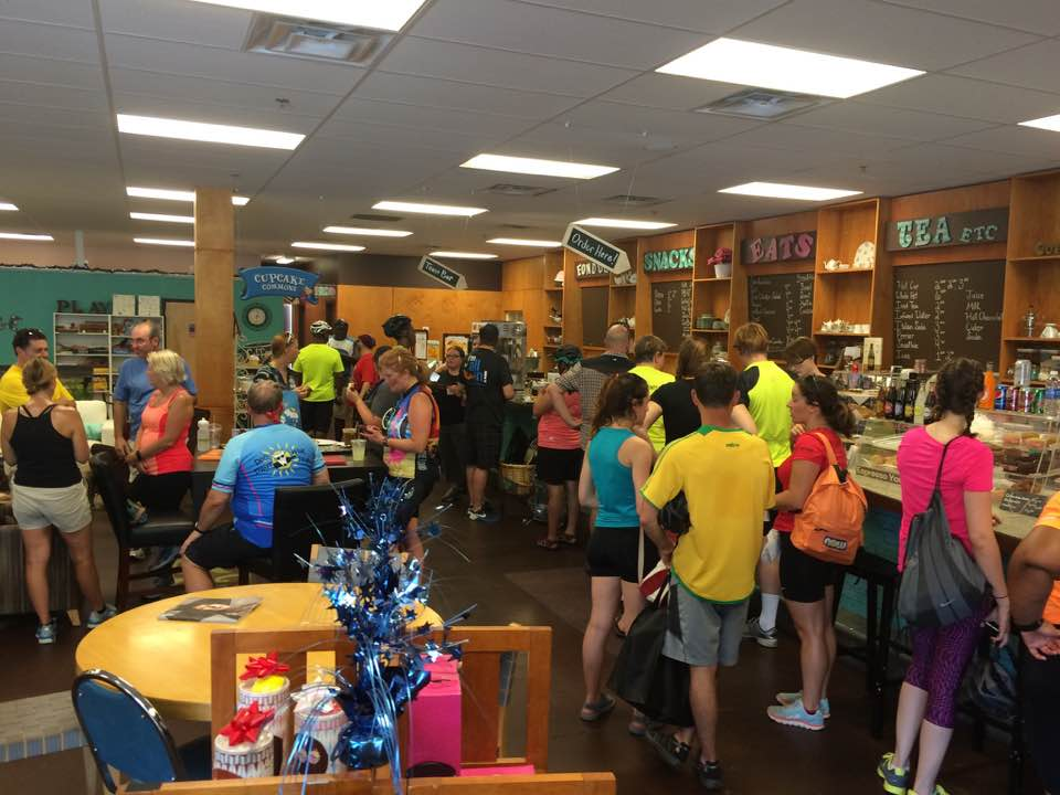Nothing like a coffee break at the halfway point! Photo credit: Shyra Allen