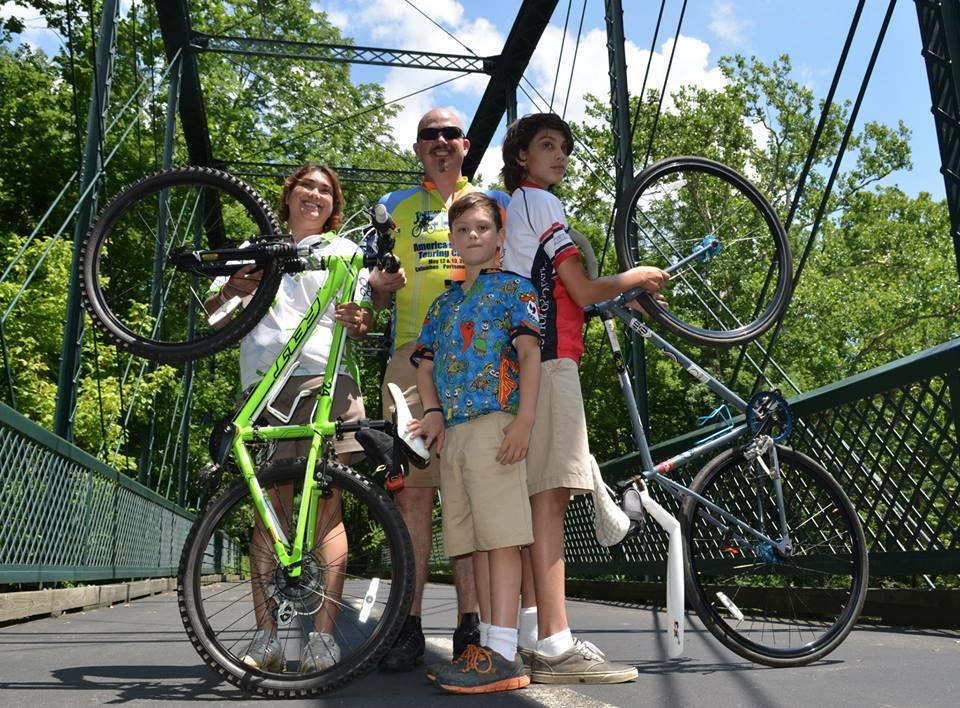 The Hendricks clan is a biking clan.