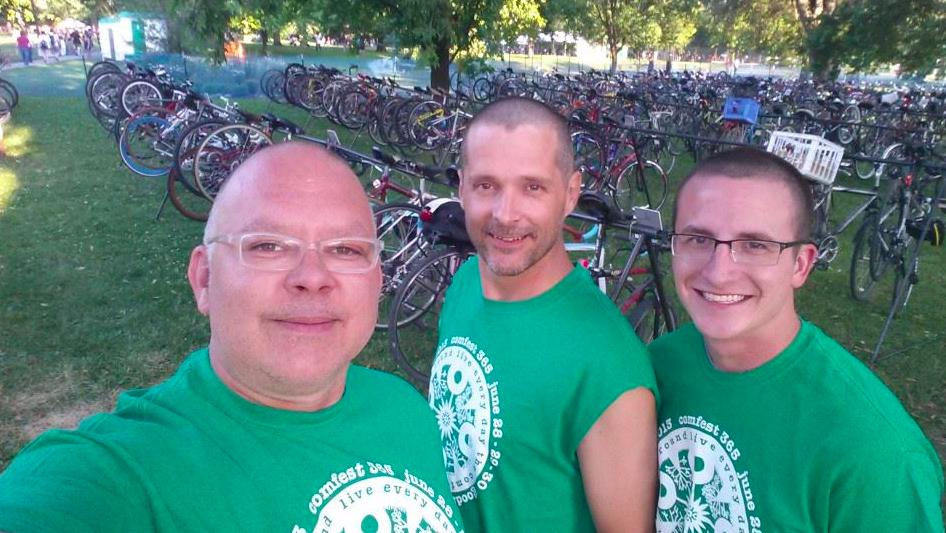 Where it all began: the Comfest bike corral.