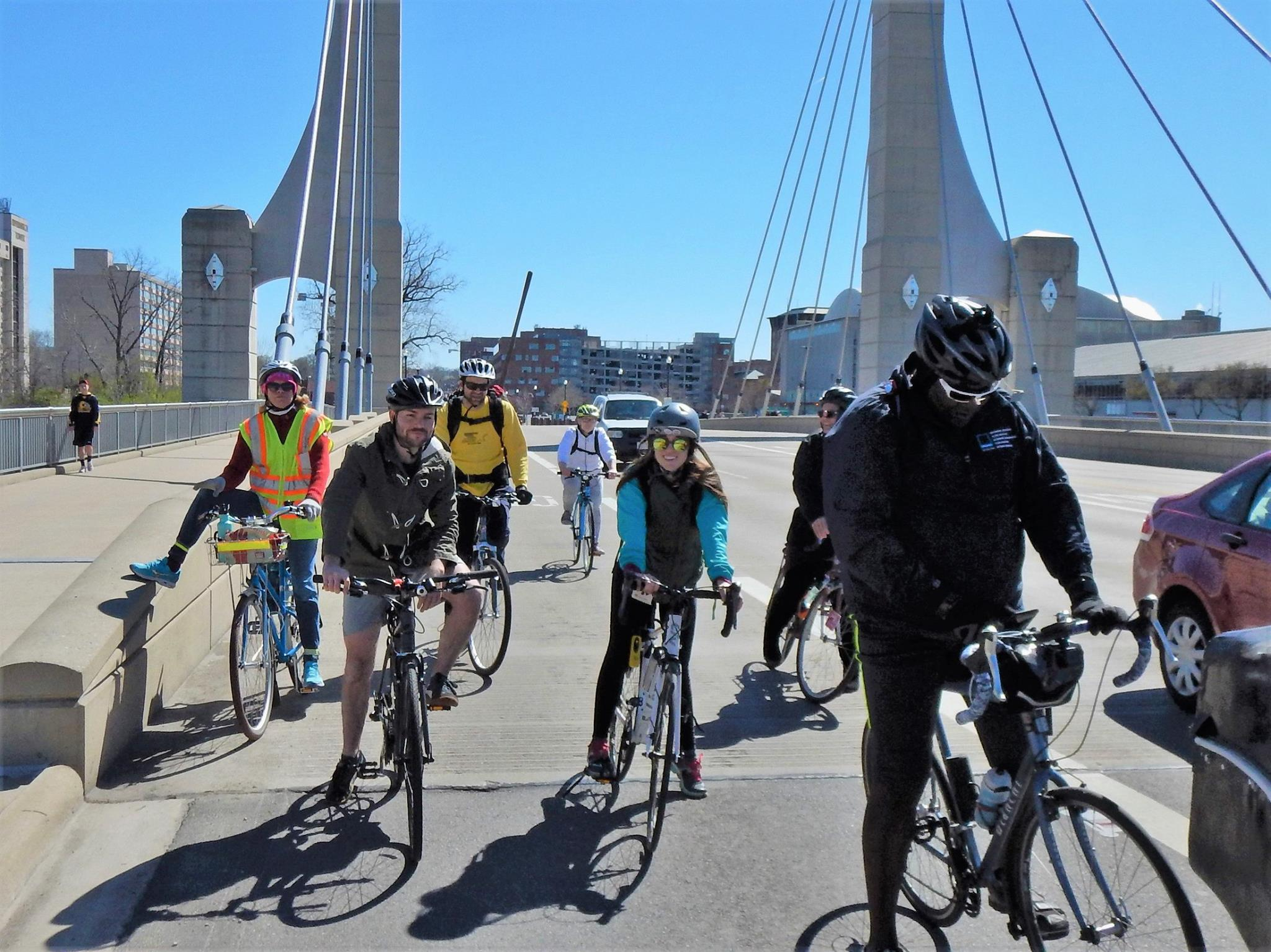 Riding the Lane Ave bridge on a beautiful day. Photo credit: Keith 'Lugs' Mayton