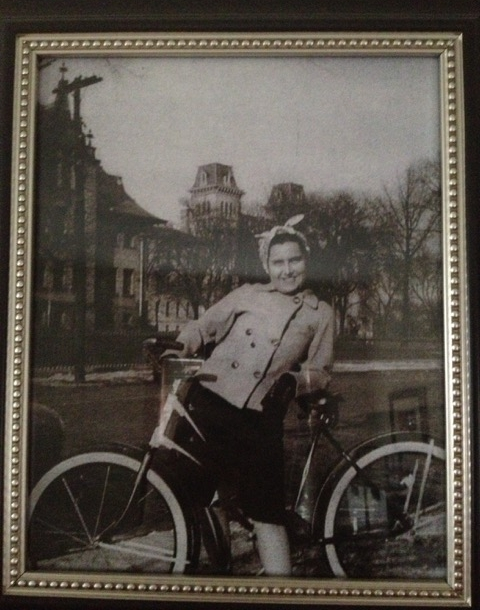 Emily's grandmother (pictured) and grandfather influenced her early passion for biking.