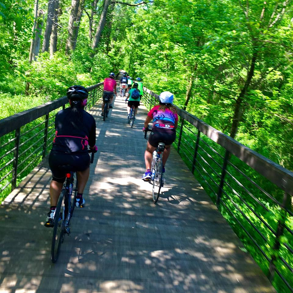 The long boardwalk approaching Innis Park—part of the Alum Creek North greenway. Photo credit: Pete Heiss