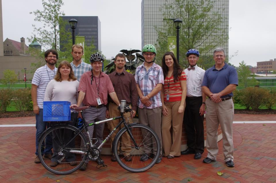 Rahel, second from left, with colleagues who also participated in 2012's National Bike Challenge.