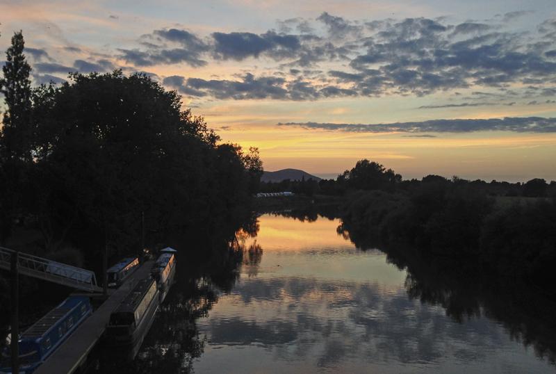 View from Upton-on-Severn Bridge, Worcs.