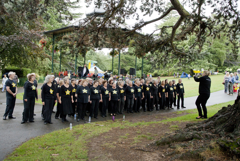 Band in Priory Park, Malvern, Worcs.