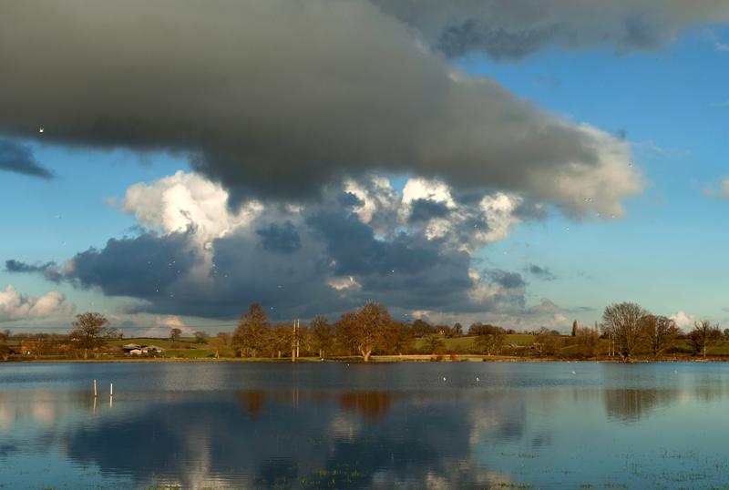 River Severn in flood, Upton-on-Severn, Worcs.