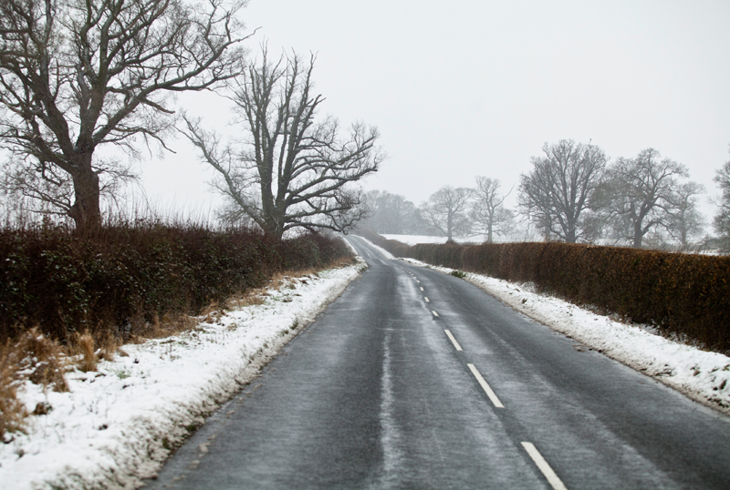 Country Lane in Winter, Worcs.