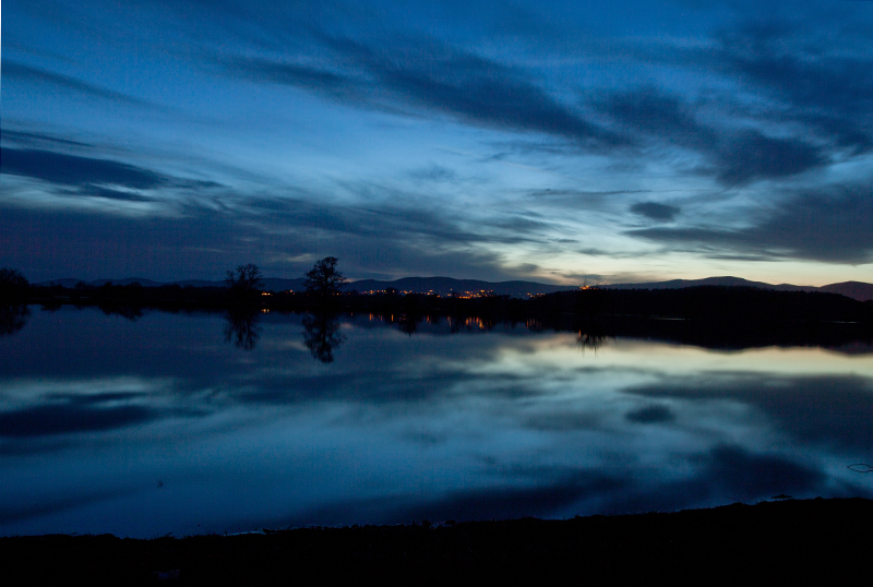 River Severn in Flood at night, Worcs.