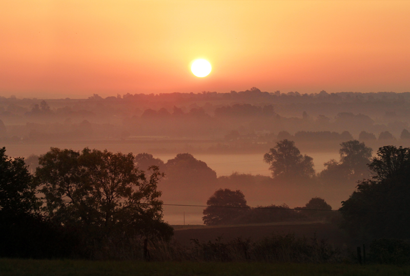 Sunset over the Severn Valley, Worcs.
