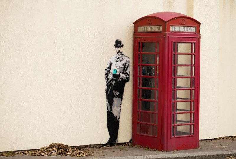 Edward Elgar street art, Great Malvern