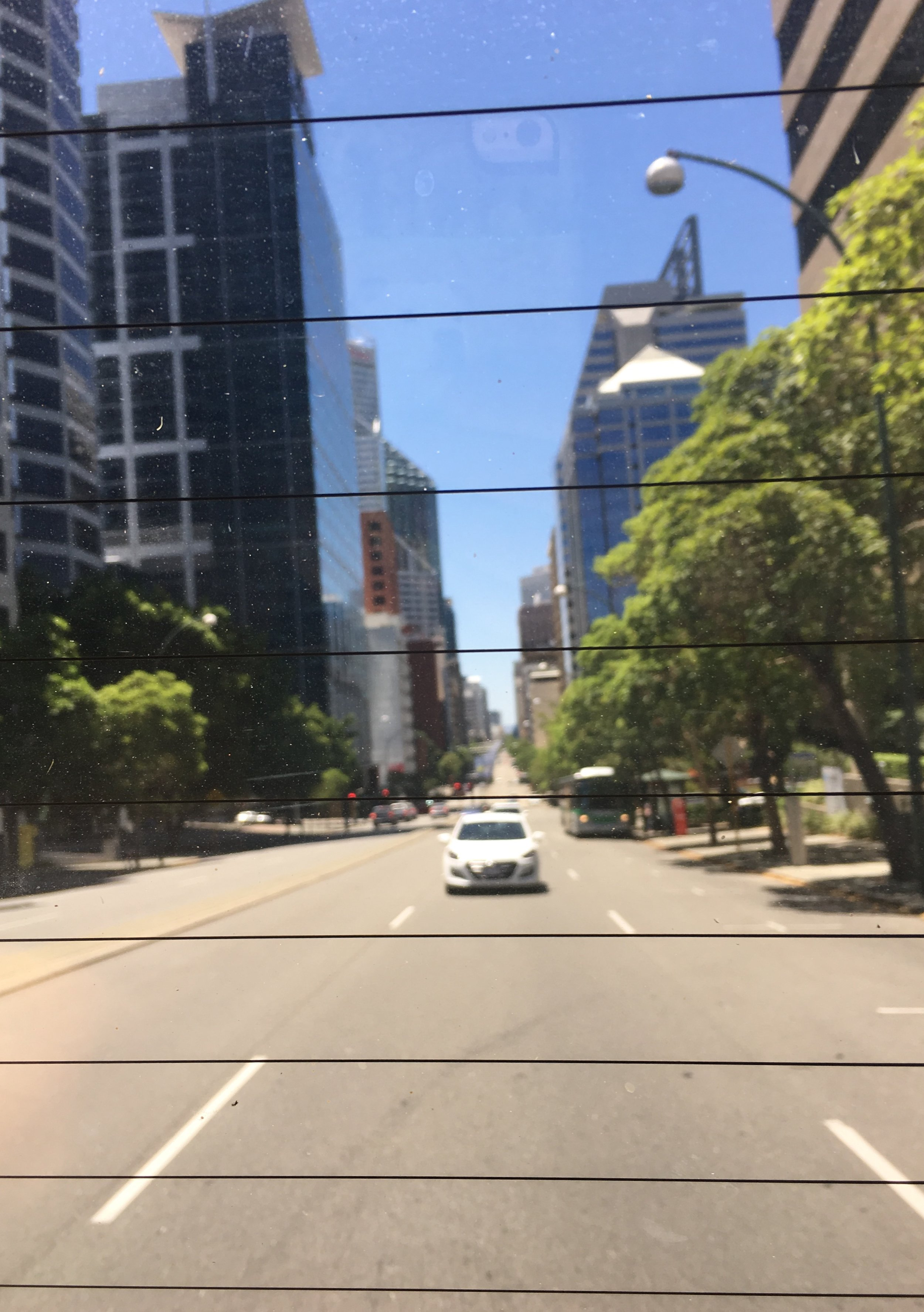 City view through rear window :)