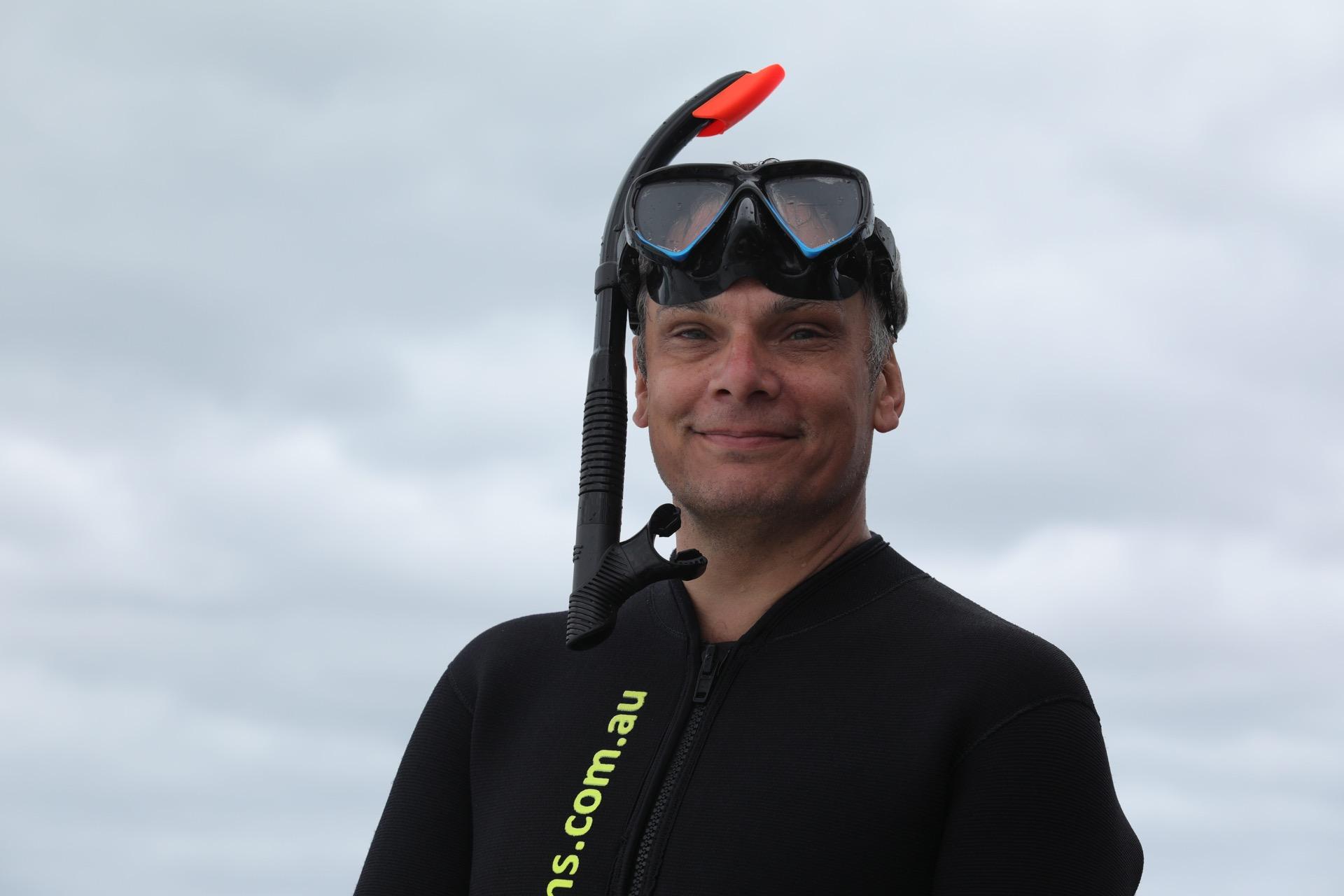 Smart in his wet suit :)