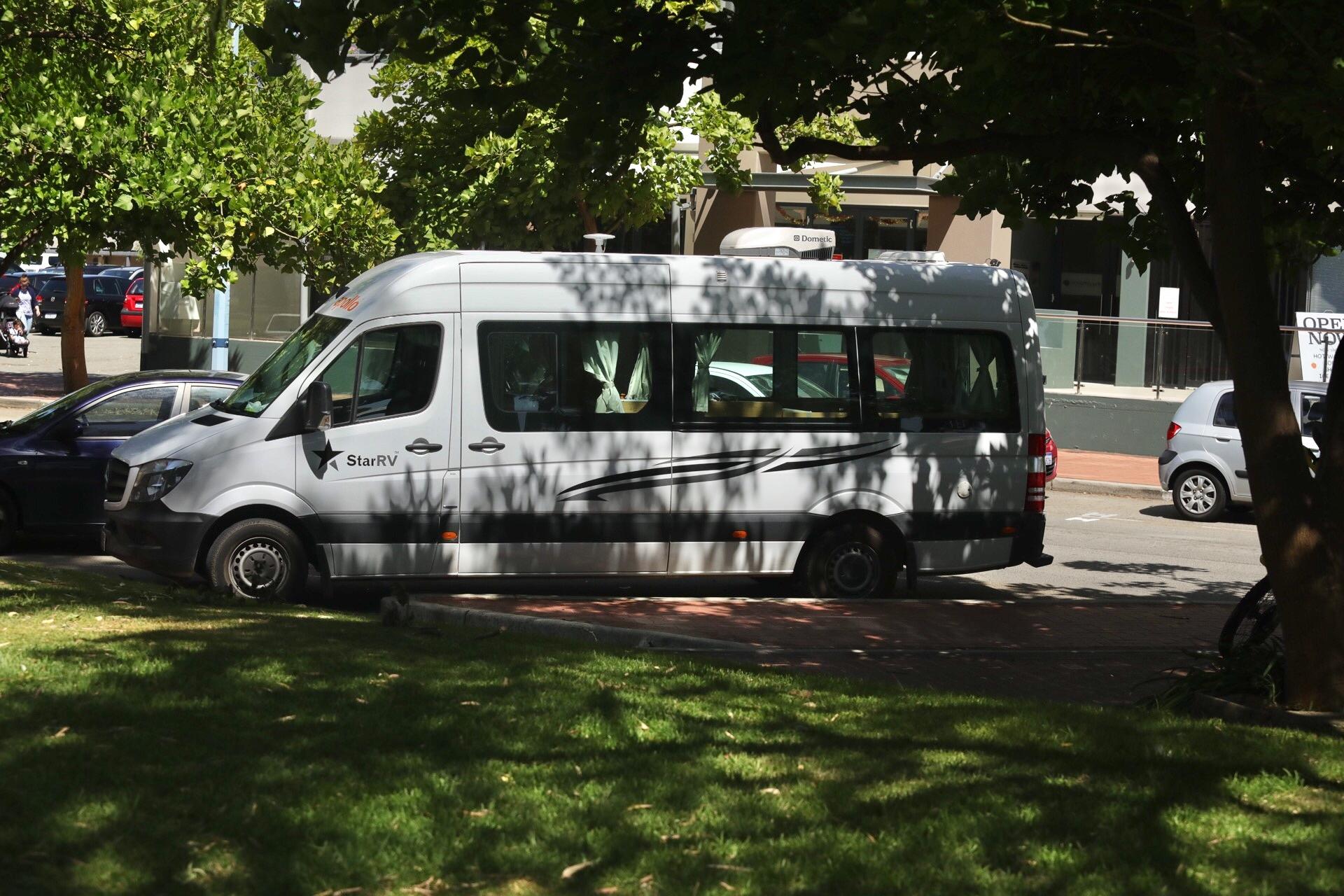 Back off in the van :)
