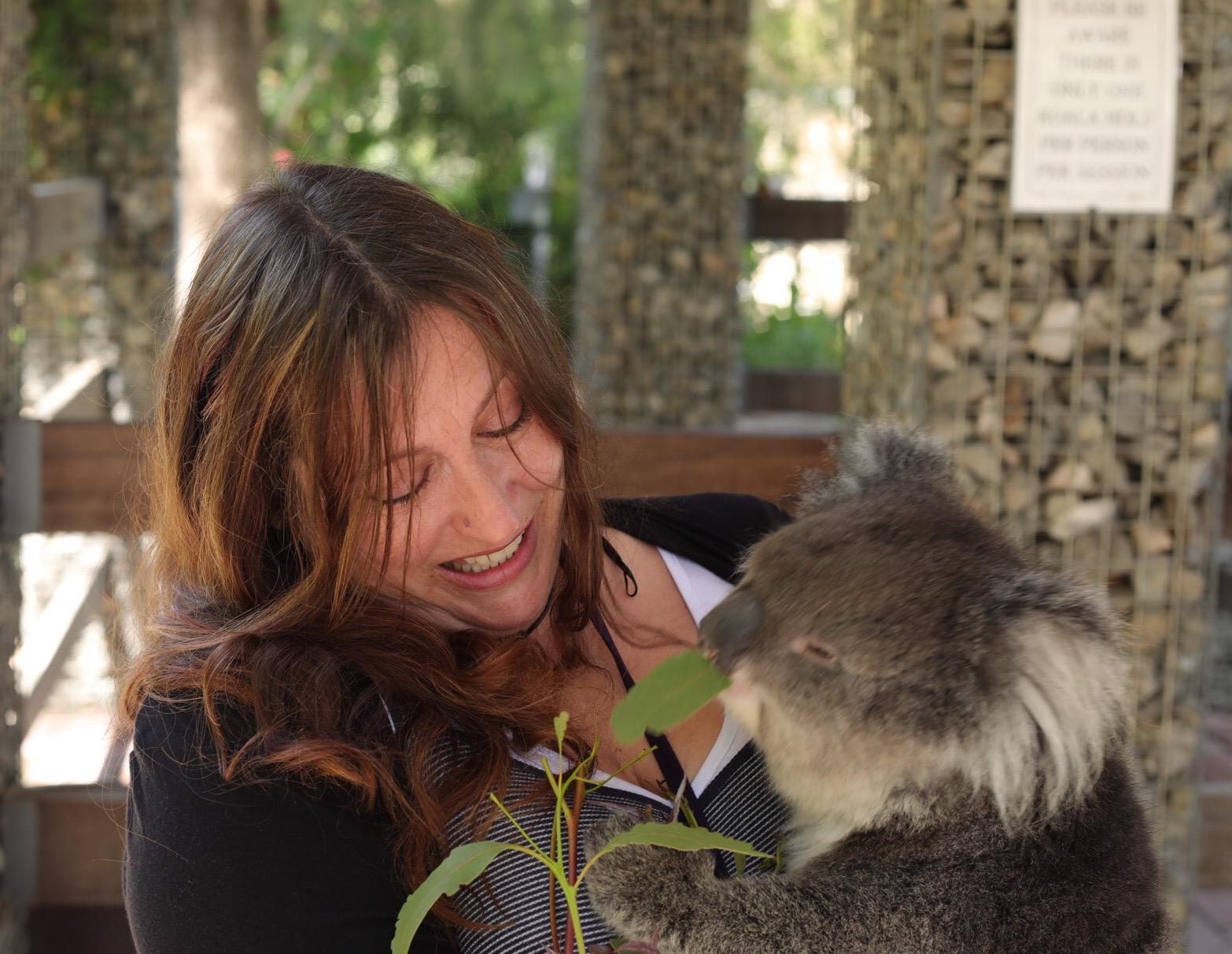 Cuddling Bella the koala :)