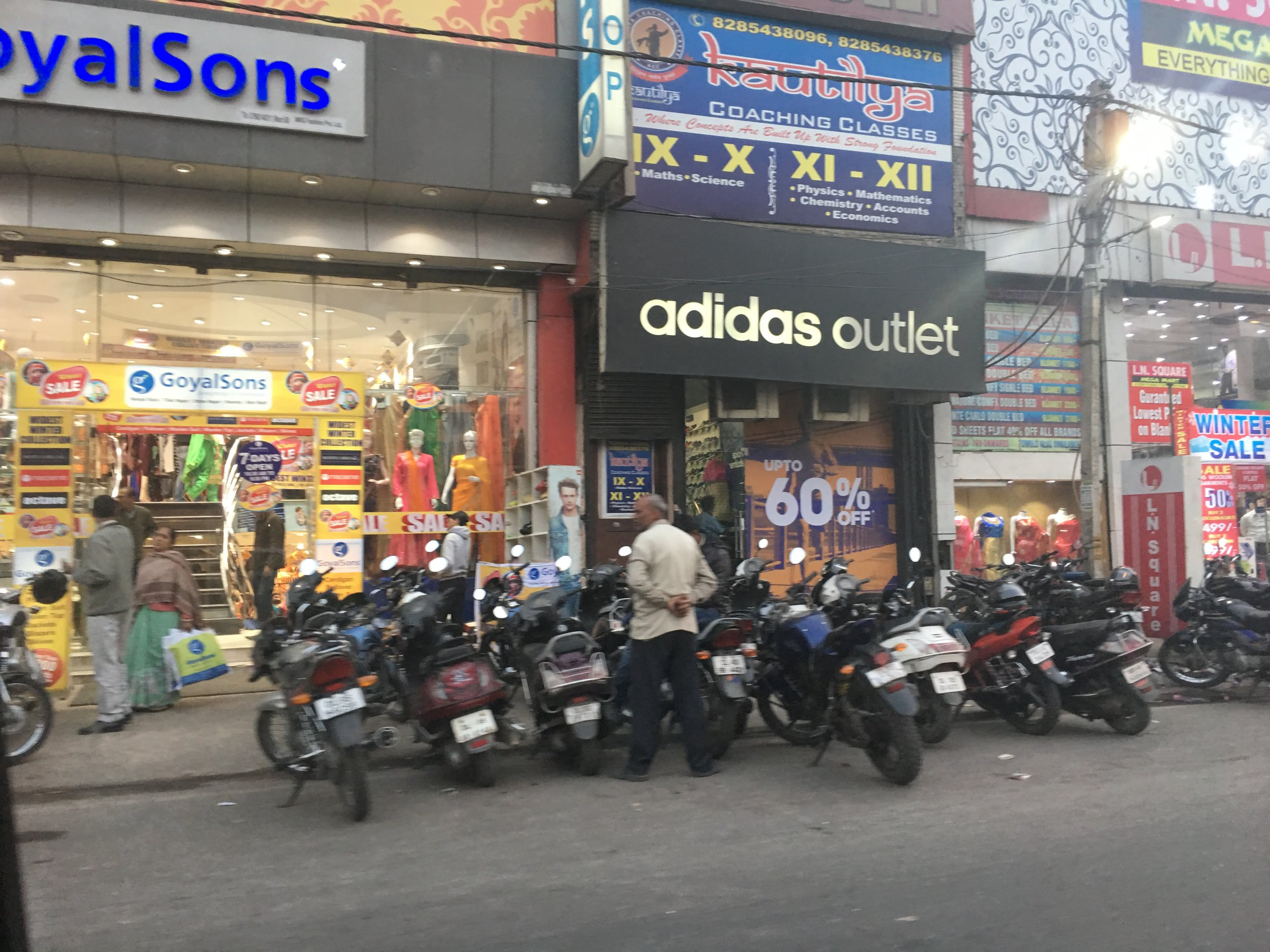 There are lots of motorbikes in Delhi!