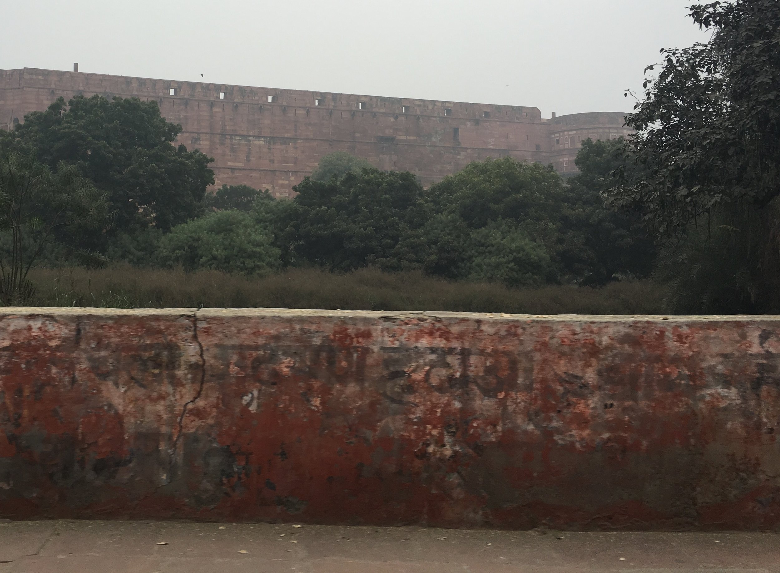 Agra Fort taken from ouside