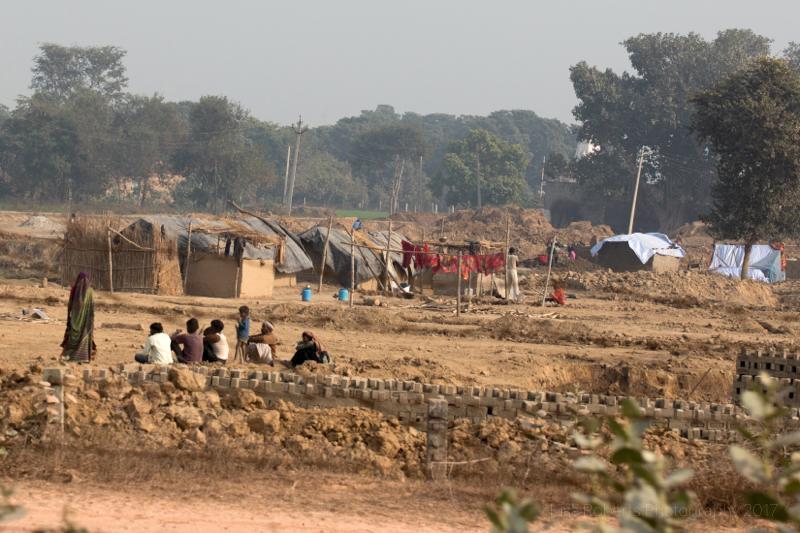 Making bricks,Mat, Uttar Pradesh, India