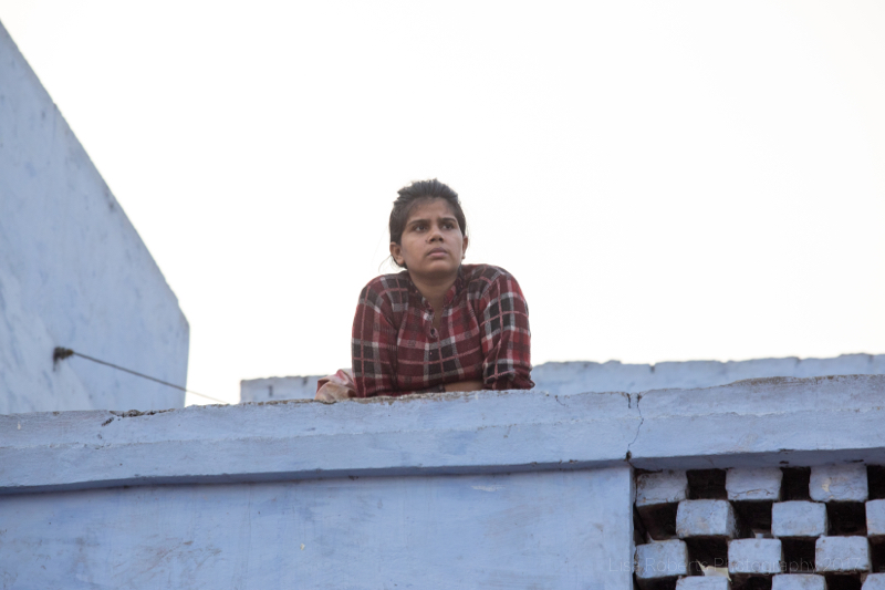 Look out girl, Agra, Uttar Pradesh, India
