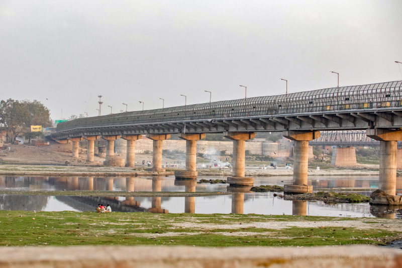 Ambedkar Bridge over the River Yamuna, Agra, Uttar Pradesh, India