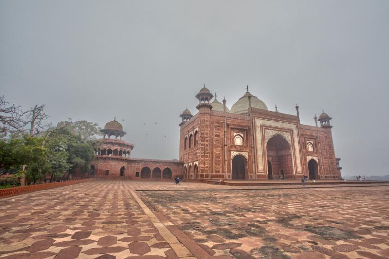 Mosque, Taj Mahal, Agra, Uttar Pradesh, India