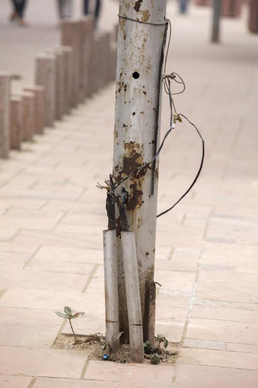 Interesting street wiring! Agra, Uttar Pradesh, India