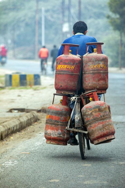 The gas man! Agra, Uttar Pradesh, India