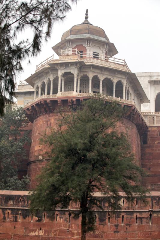 Red Fort tower, Agra, Uttar Pradesh, India
