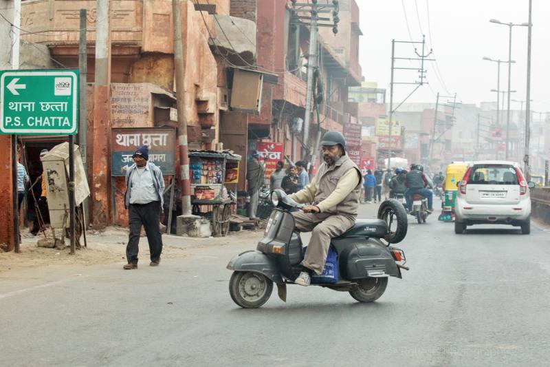 Rusty moped, Agra, Uttar Pradesh, India