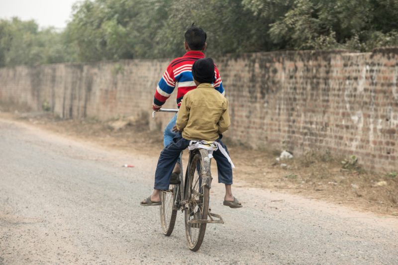 Having a 'backy', Agra, Uttar Pradesh, India
