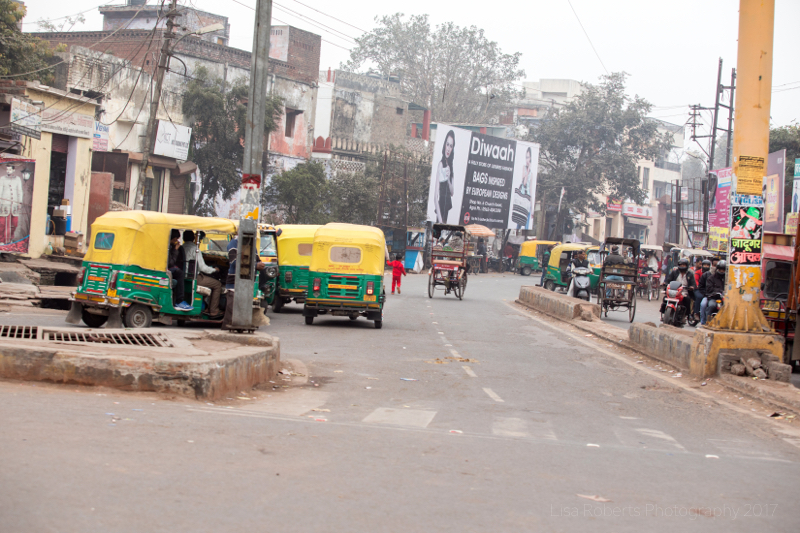 Typical street in Agra, Uttar Pradesh, India