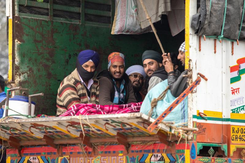 Happy travellers, Farah, India