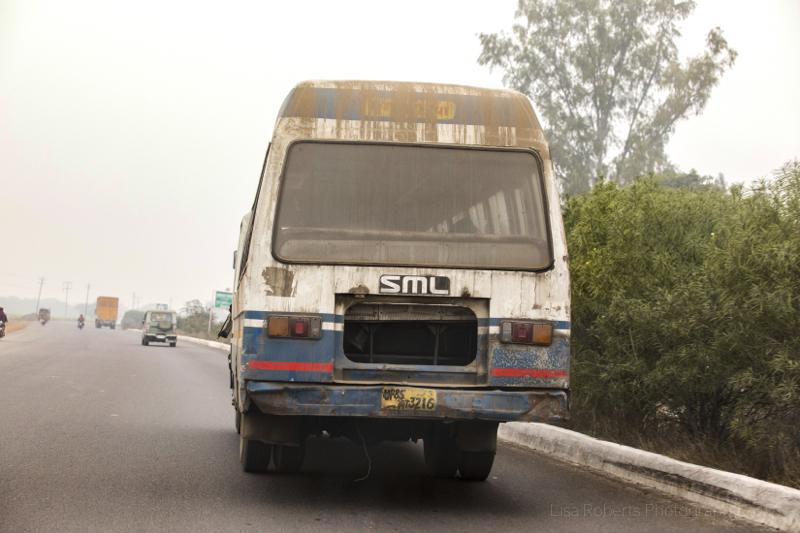 Tatty old bus, Farah, India