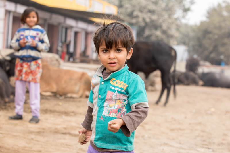 Boy in green top, Mathura, Uttar Pradesh, India