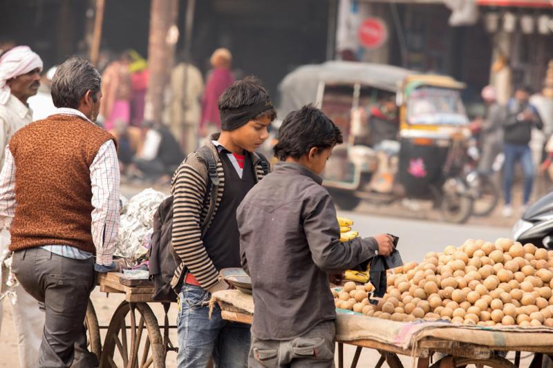 Shopping for fruit, Mathura, Uttar Pradesh, India