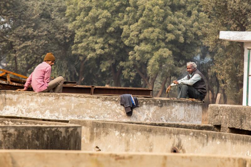 Chatting on a wall,Mathura, Uttar Pradesh, India