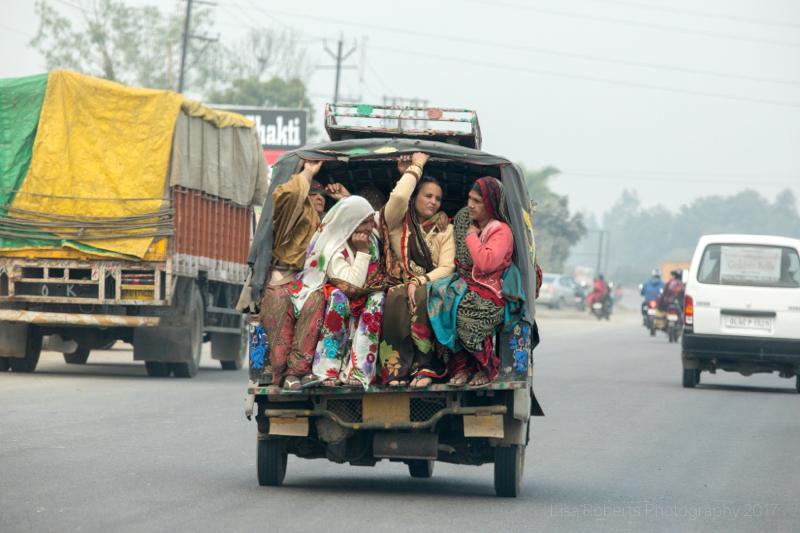 Tuk-tuk full of ladies,Tractor ride,Mathura, Uttar Pradesh, India