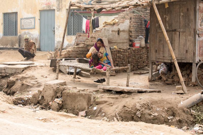Checking hair,Jait, Uttar Pradesh, India