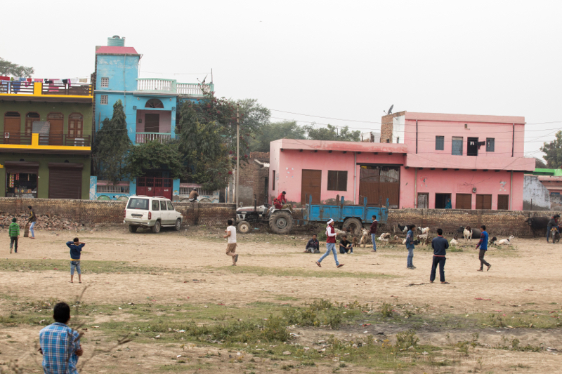 Cricket match, Chhata, India