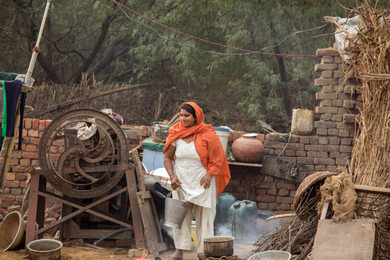 Daily chores, Palwal, india