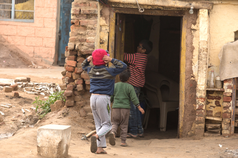 Kids playing, Palwal, India