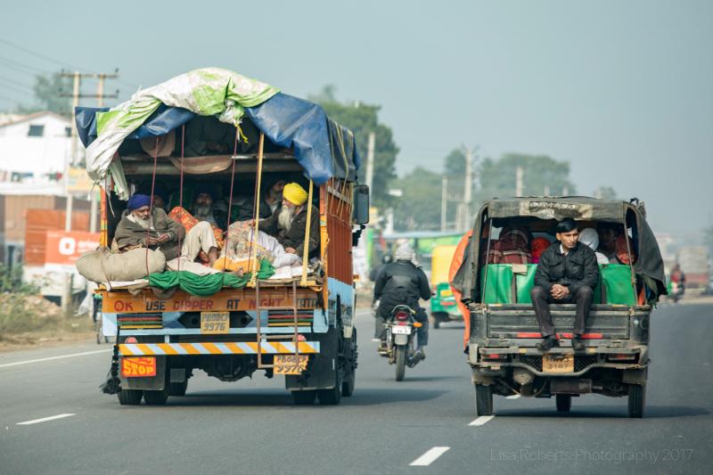 Highway traffic, Palwal, India