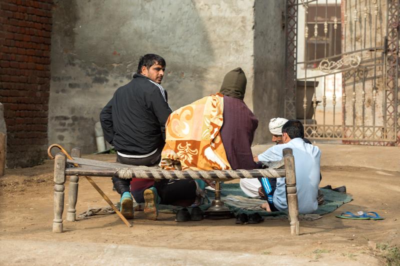Having a smoke, Palwal, India