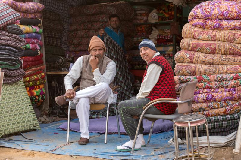 Carpet sellers, Gargaon, Haryana, India